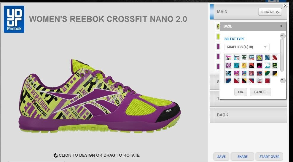 Reebok Shoe Design