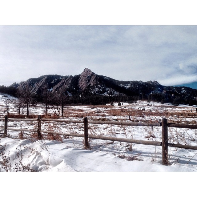 15 snowy, slippery, and wet miles in #Boulder today--yet so much fun!