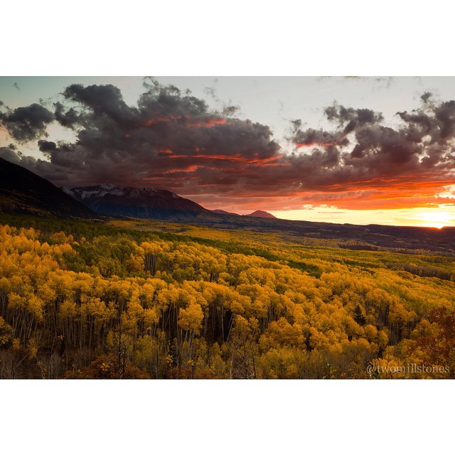 I'm never one to wish away the seasons, but if this #tbt sunset at Kebler Pass isnt the most stunning autumnal view of Colorado aspen, I don't know what is! ?: @twomillstones; October, 2014. ???