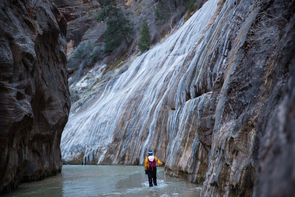 Hiking The Narrows In The Winter Zion National Park