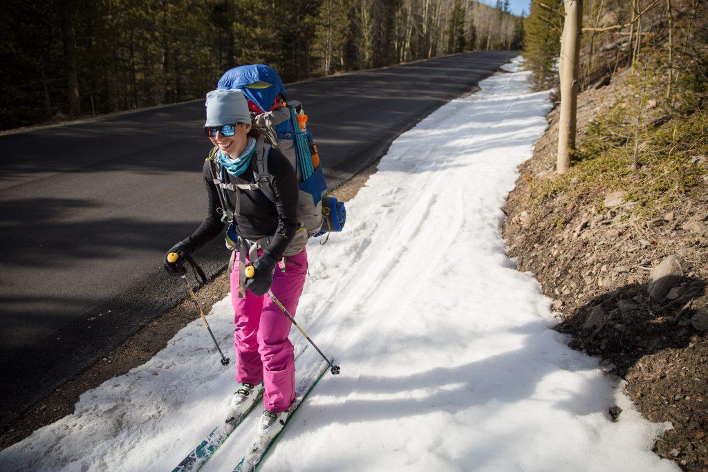Backcountry skiing at Geneva Basin